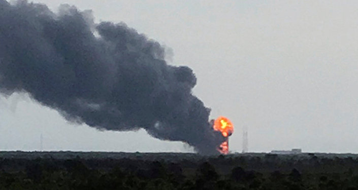 انفجار في موقع إطلاق صاروخ فالكون 9