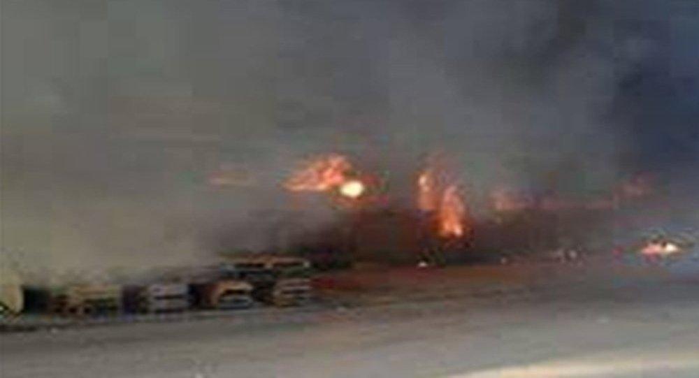 حرق قطار في الجزائر