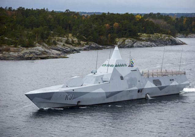 سفينة عسكرية سويدية