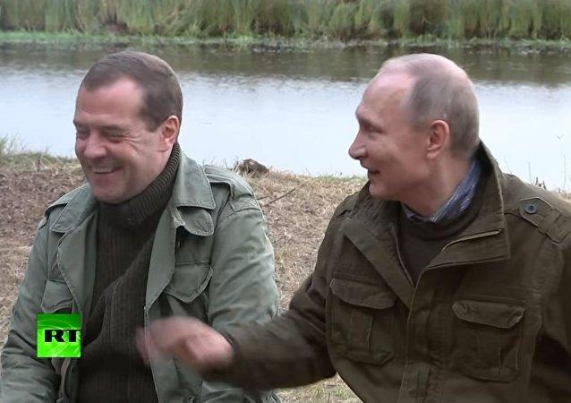 بوتين وميدفيديف