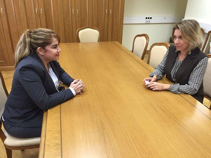 لقاء المعارضة بروان مع ماريا زاخاروفا