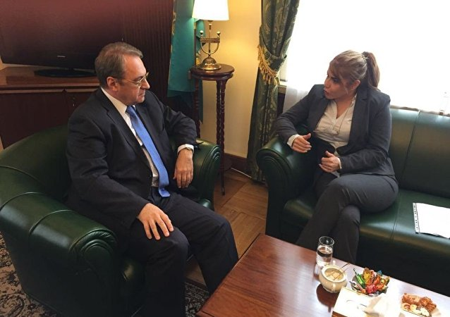 لقاء بروين ابراهيم مع السيد بغدانوف