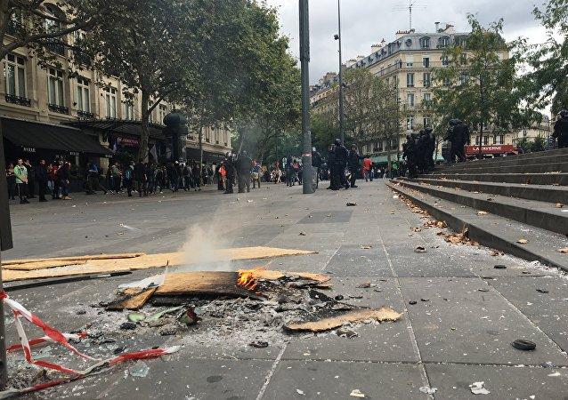 احتجاجات في فرنسا على قانون العمل الجديد
