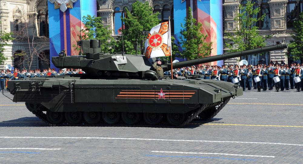 دبابة تي - 14 الروسية على هيكل أرماتا