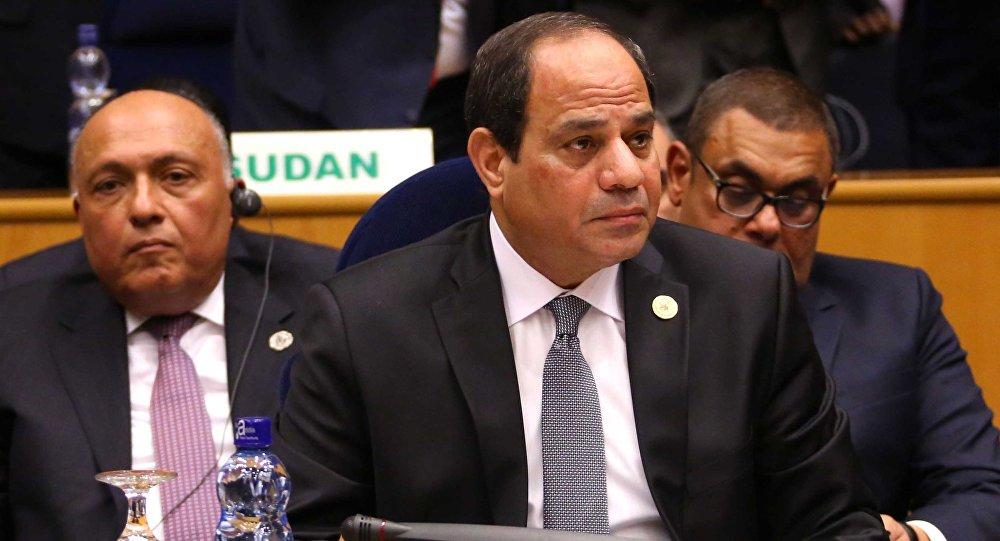 السيسي خلال المشاركة في اجتماع مجلس السلم والأمن التابع للاتحاد الإفريقي