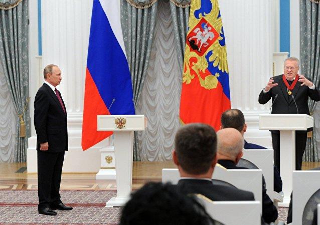 فلاديمير بوتين وفلاديمير جيرينوفسكي