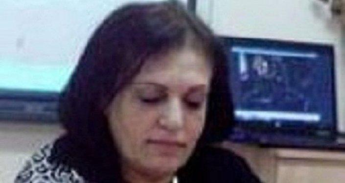 الناشطة الفلسطينية نادية البكري