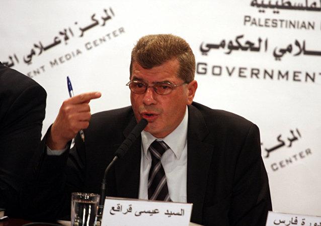 عيسي قراقع رئيس هيئة شؤون الأسرى والمحررين الفلسطينيين
