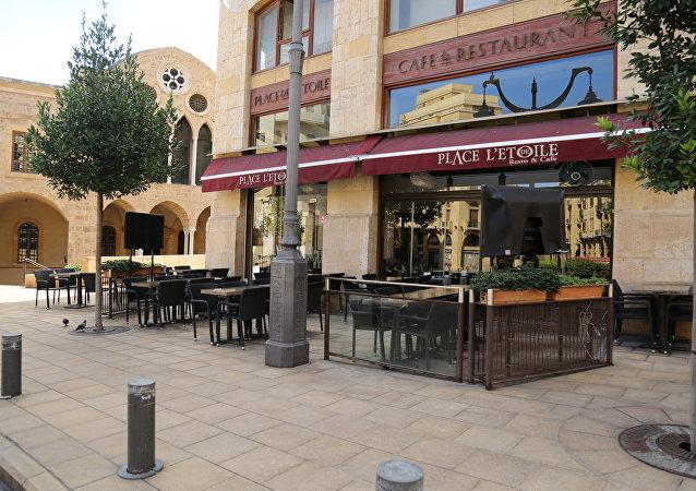مقاهي وسط بيروت الخاوية