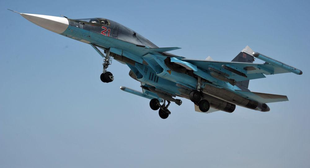 مقاتلة سو-34 فى سوريا