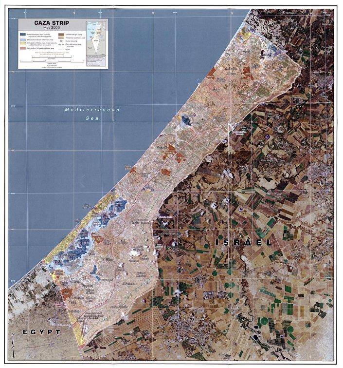 خريطة قطاع غزّة