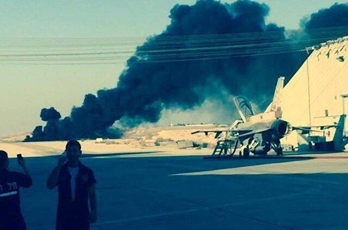 لحظة تحطم الطائرة الإسرائيلية (ارشيفية)