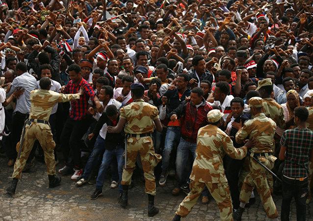 تظاهرات احتجاجية لشعب الأورومو في إثيوبيا