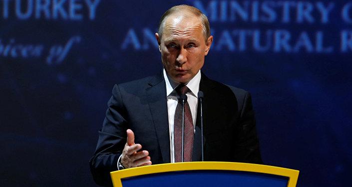بوتين في مؤتمر الطاقة العالمي في اسطنبول