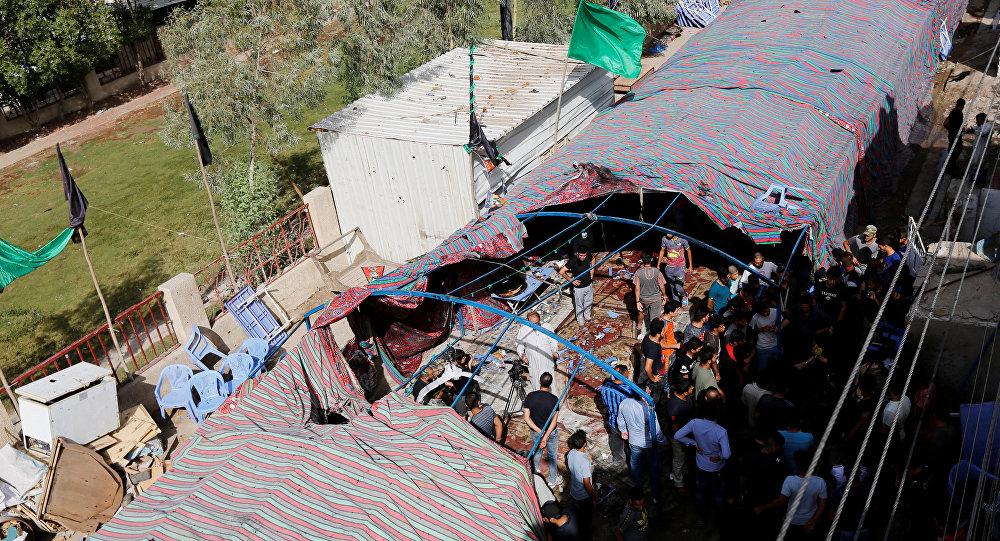 تفجير مجلس عزاء حسيني في بغداد