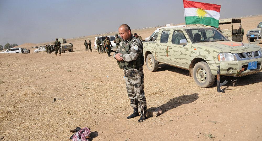 قوات البيشمركة أثناء عملية تحرير الموصل