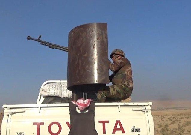 قوات البيشمركة على خط الجبهة في الموصل
