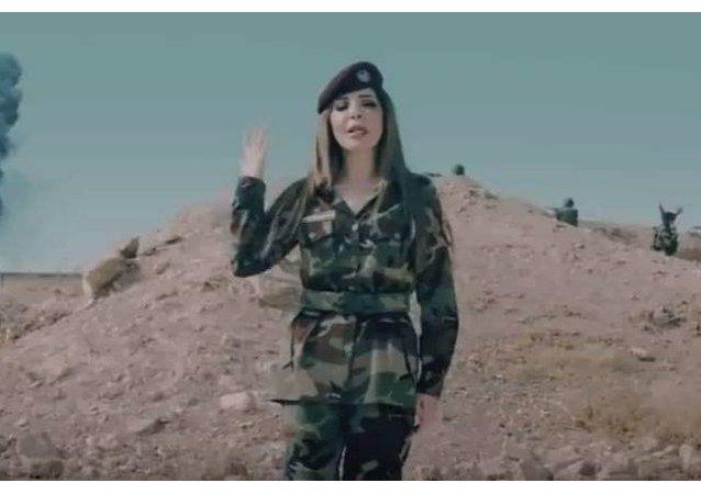 مغنية لبنانية تغني لقوات البيشمركة