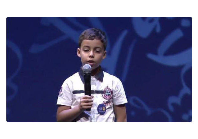 الطفل الجزائري الذي حير لجنة التحكيم و كل من سمعه و تحدى 3 مليون متسابق في تحدي القراءة العربي 2016