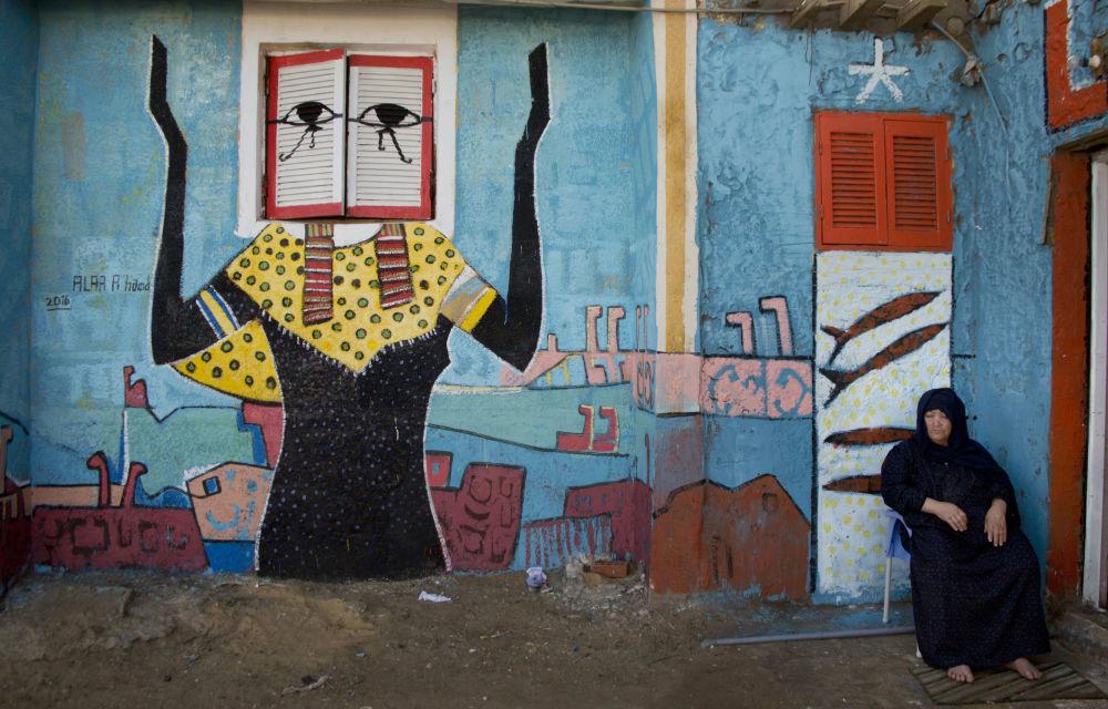 لوحات فنية في مركز برلس بكفر الشيخ