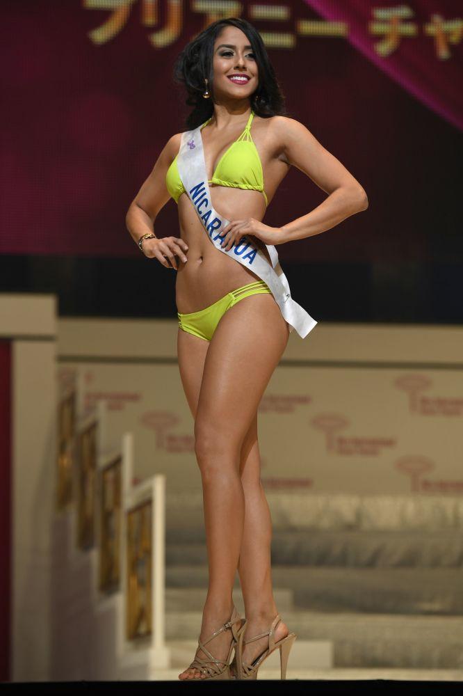 ملكة جمال نيكاراغوا في بروفة نهائيات مسابقة ملكة الجمال الدولية مسابقة ملكة الجمال في طوكيو