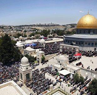 باحة مسجد الأقصى ومسجد قبة الصخرة المشرفة