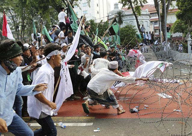 مظاهرات في جاكارتا