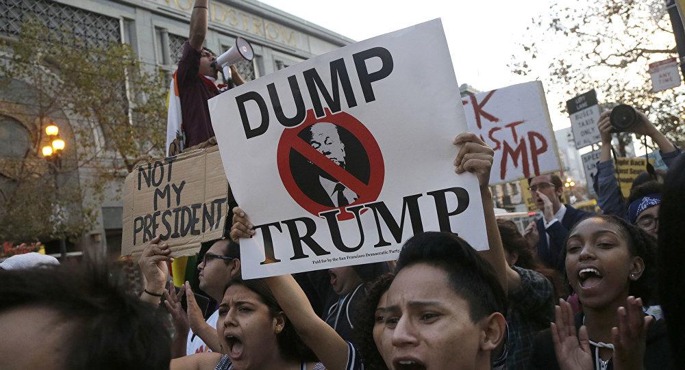 تظاهرة ضد ترامب