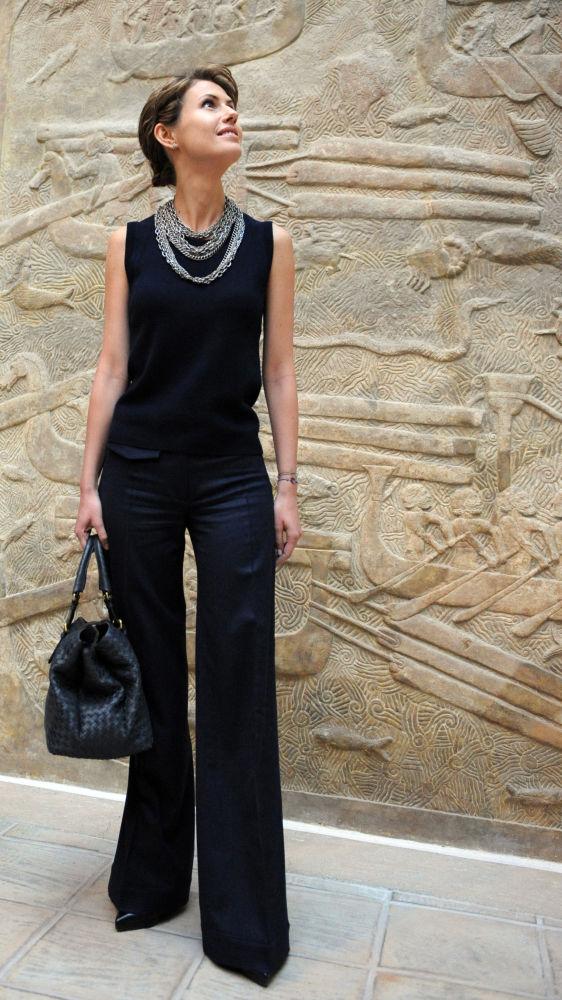 السيدة الأولى أسماء الأسد، زوجة الرئيس السوري بشار الأسد، 2008