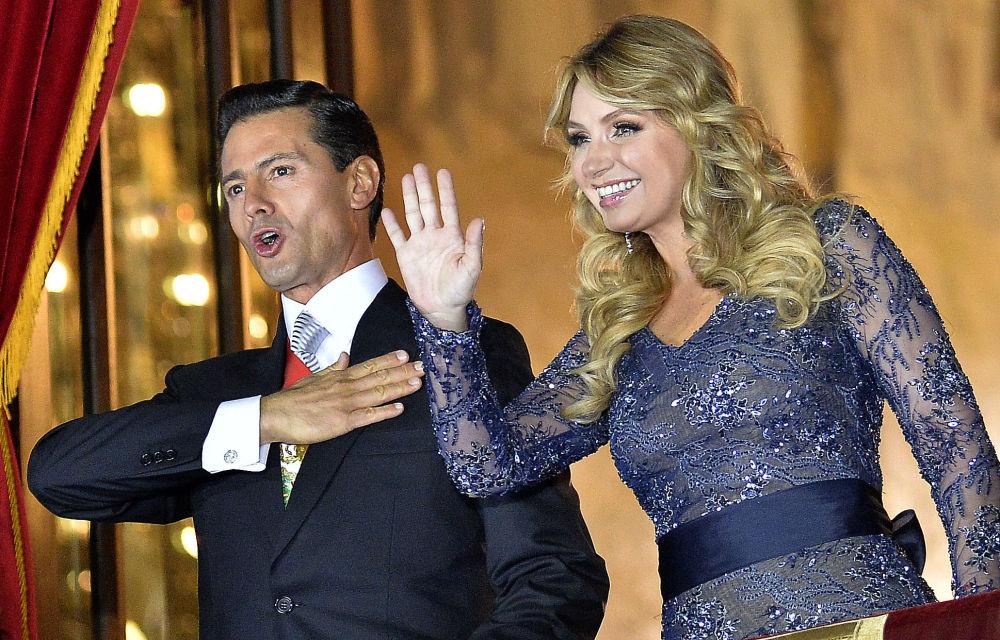 السيدة الأولى أنجليكا ريفيرا، زوجة رئيس المكسيك إنريكي بني نيتو، 2016