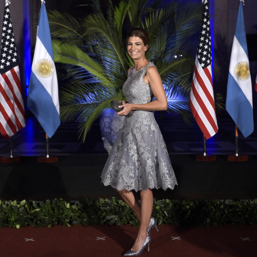 السيدة الأولى جوليانا أوادا، زوجة الرئيس الأرجنتيني ماوريسيو ماركي، 2016