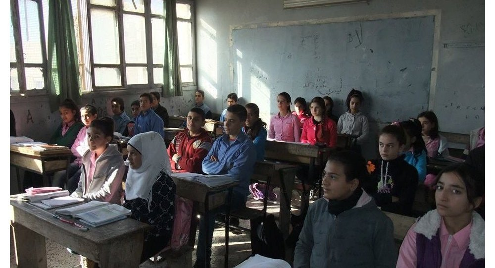 صقيع الشتاء  في المدارس السورية