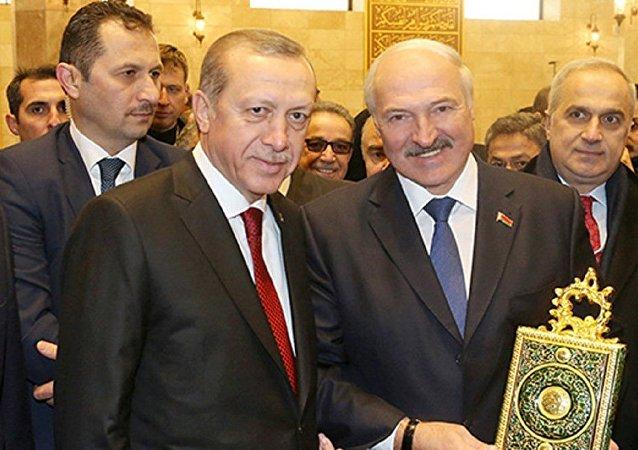 رئيس بيلاروسيا مع أردوغان