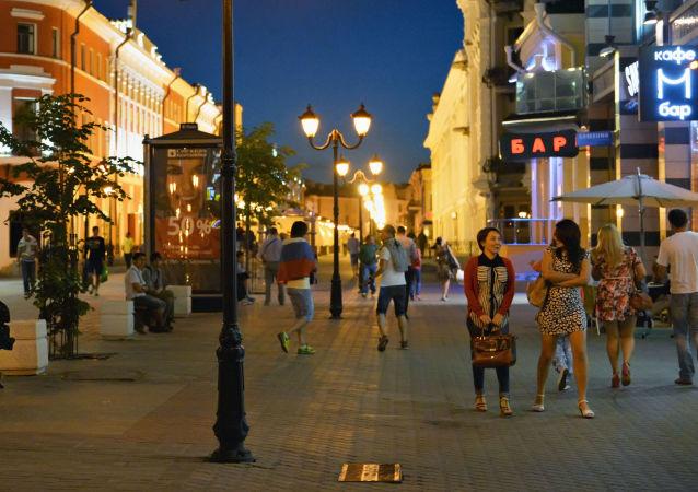 شارع بطرسبورغ في مدينة قازان