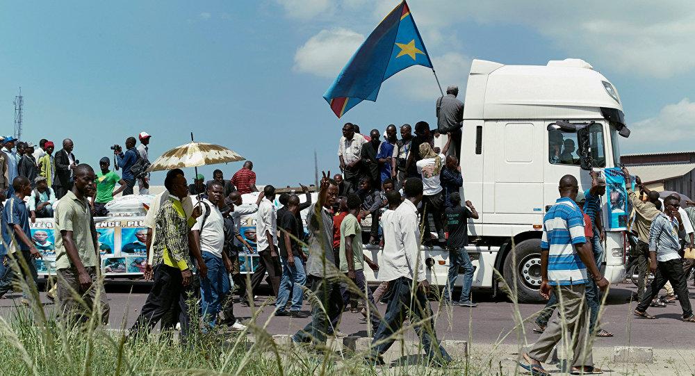 تشييع ضحايا احتجاجات في الكونغو