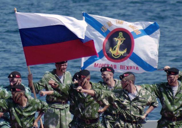 مشاة البحرية الروسية في سيفاستوبول