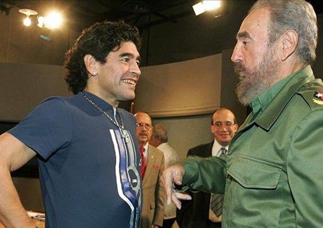 مارادونا و كاسترو