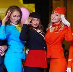 مسابقة أجمل مضيفة طيران في روسيا