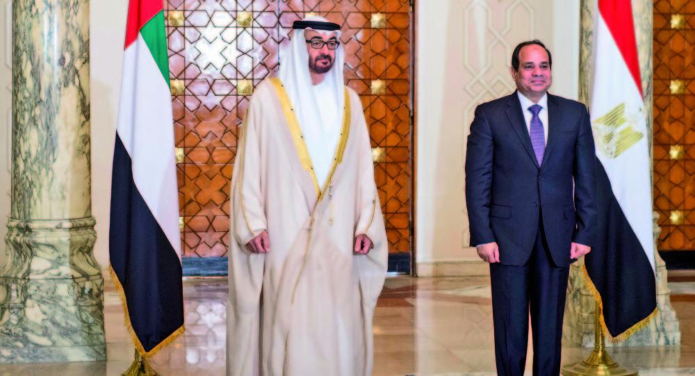 السيسي وولي عهد أبو ظبي محمد بن زايد آل نهيان