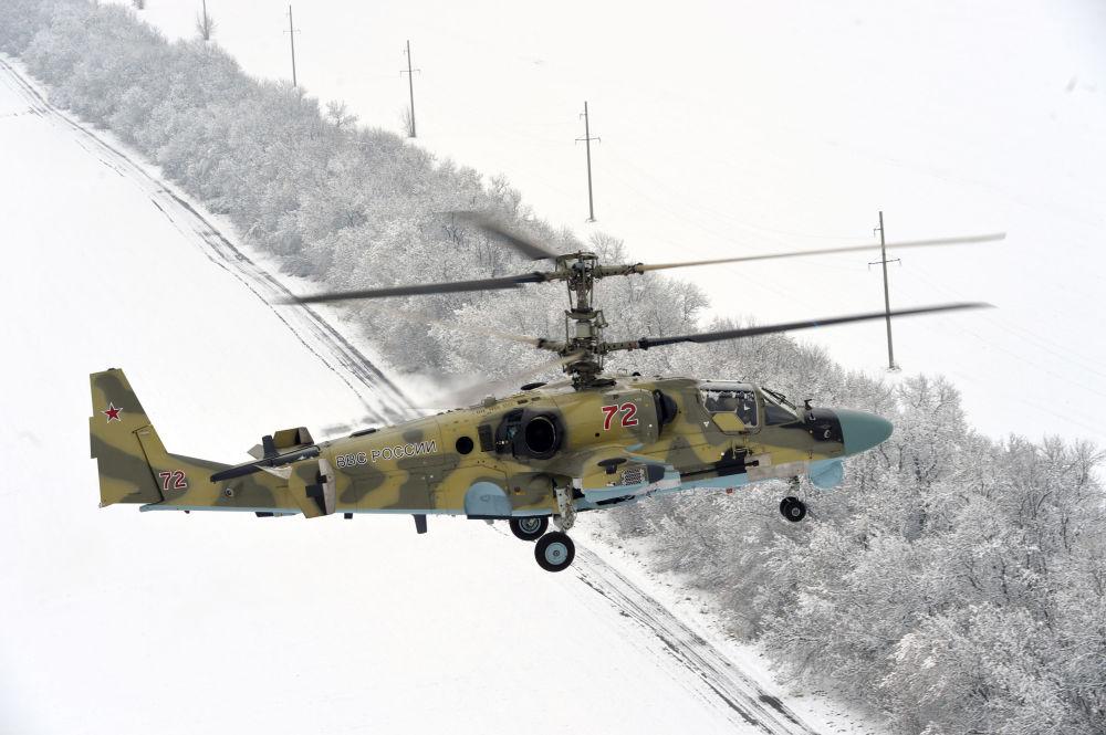 تجربة مروحيات كا-52 فى إقليم كراسنودار