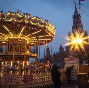 مهرجان رأس السنة على الساحة الحمراء في موسكو