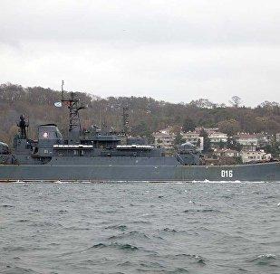 سفينة الإنزال الروسية الكبيرة التابعة لأسطول الشمال غيورغي بوبيدونوسيتس