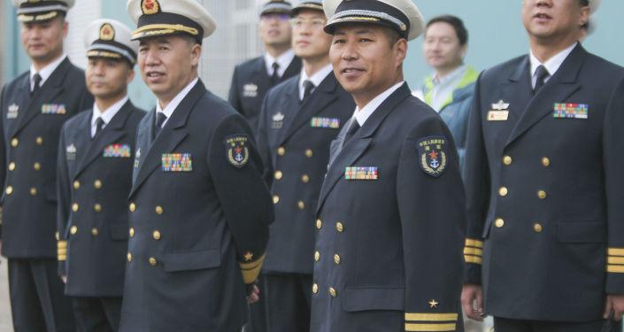 ضباط البحرية الصينية يصلون ميناء سان دييغة بكاليفورنيا، الولايات المتحدة 6 ديسمبر/ كانون الأول 2016