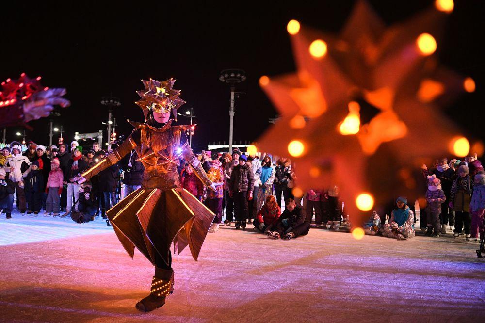 عرض تزلج على الجليد، موسكو ديسمبر/ كانون الأول 2016