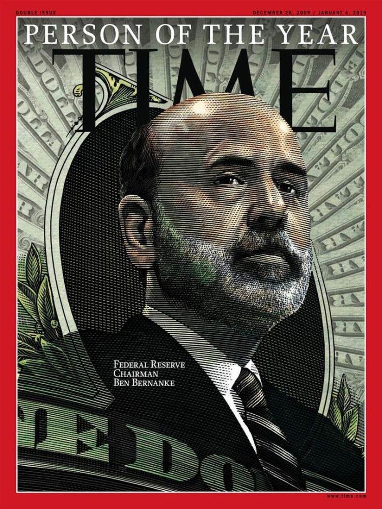 رجل العام لعام 2009 - اقتصادي أمريكي بين بيرنانكي