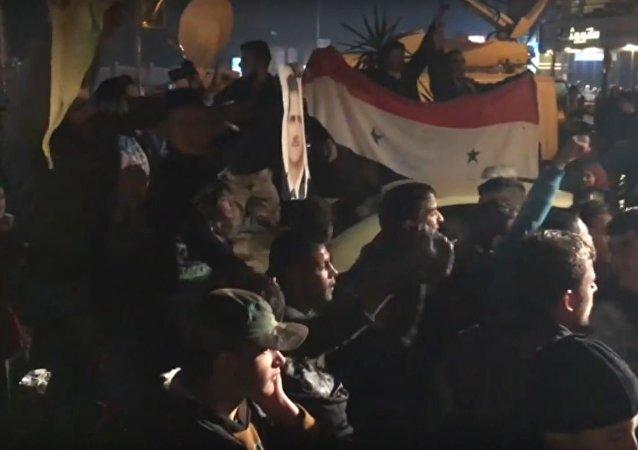 سكان مدينة حلب بعد تحريرها