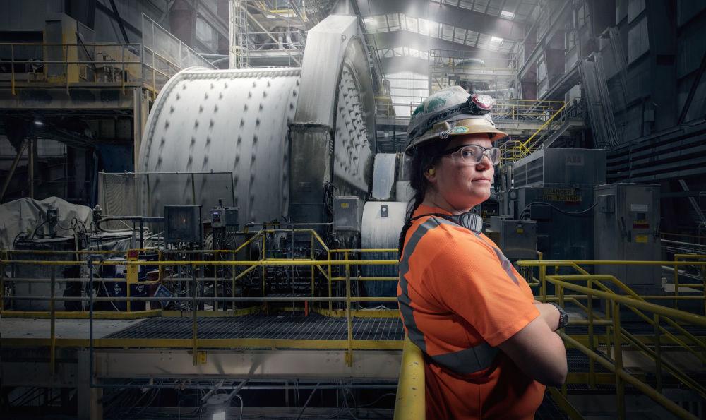 جوردن أينسورث، عاملة في مطحنة، نيفادا، الولايات المتحدة