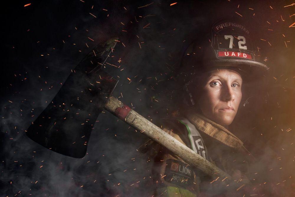 امرأة إطفاء الحريق، أوهايو، الولايات المتحدة