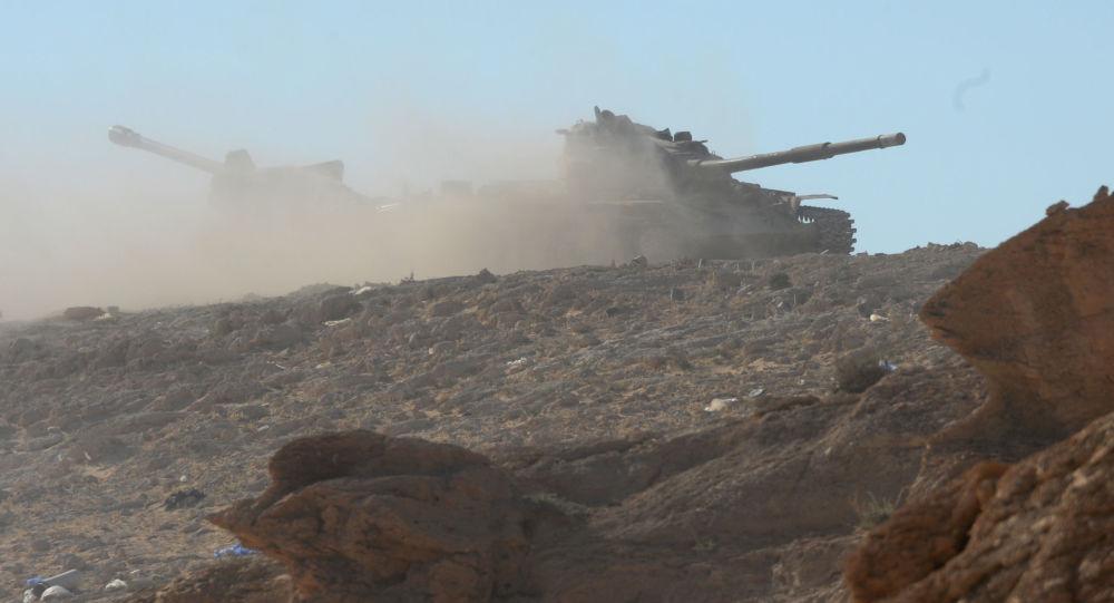 موقع الجيش السوري قرب مدينة تدمر