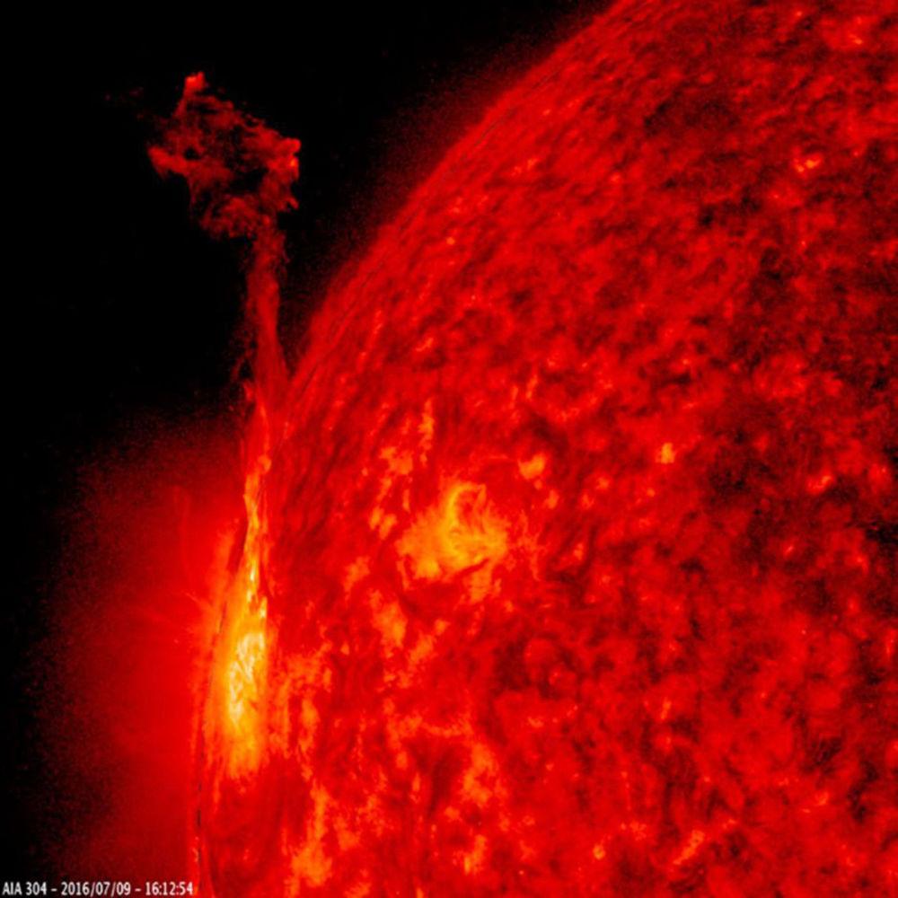 إحدى المناطق النشطة للشمس